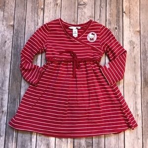 Hello kitty striped dress size 2-3